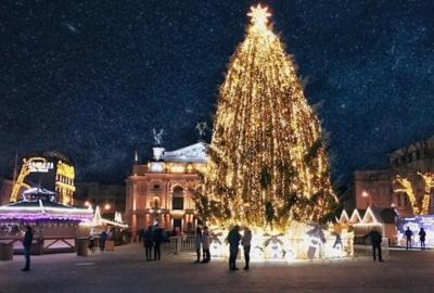Празднование Нового года во Львове