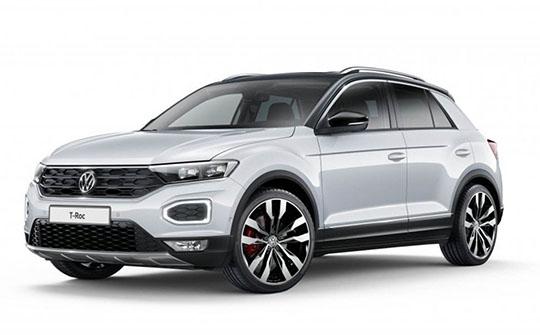 Volkswagen T-Roc wynajem samochodów